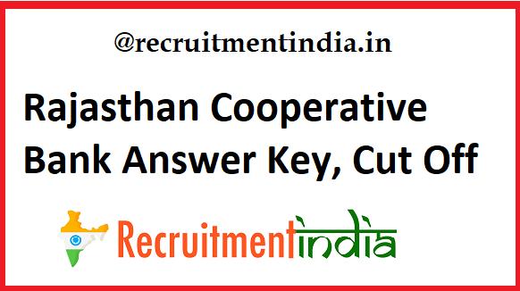 Rajasthan Cooperative Bank Answer Key