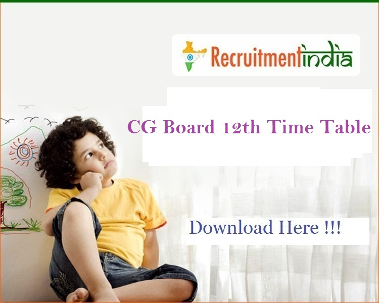 CG Board 12th Time Table