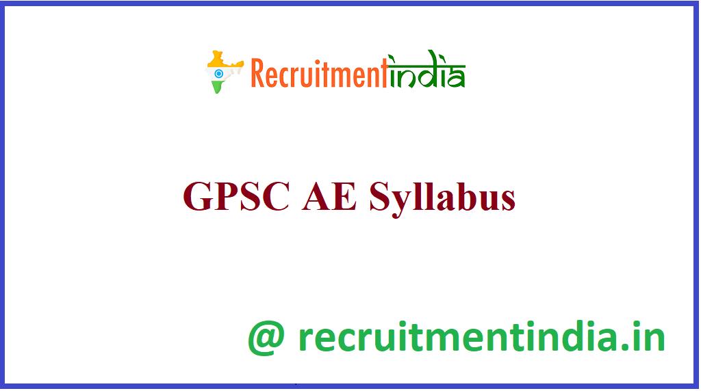 GPSC AE Syllabus