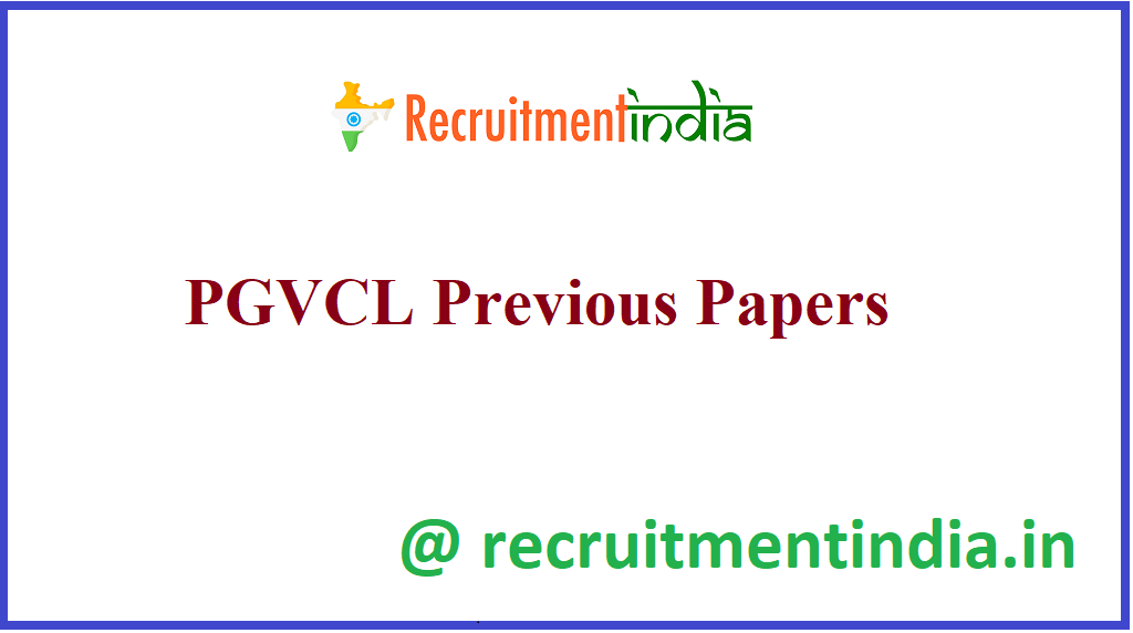 PGVCL Previous Papers
