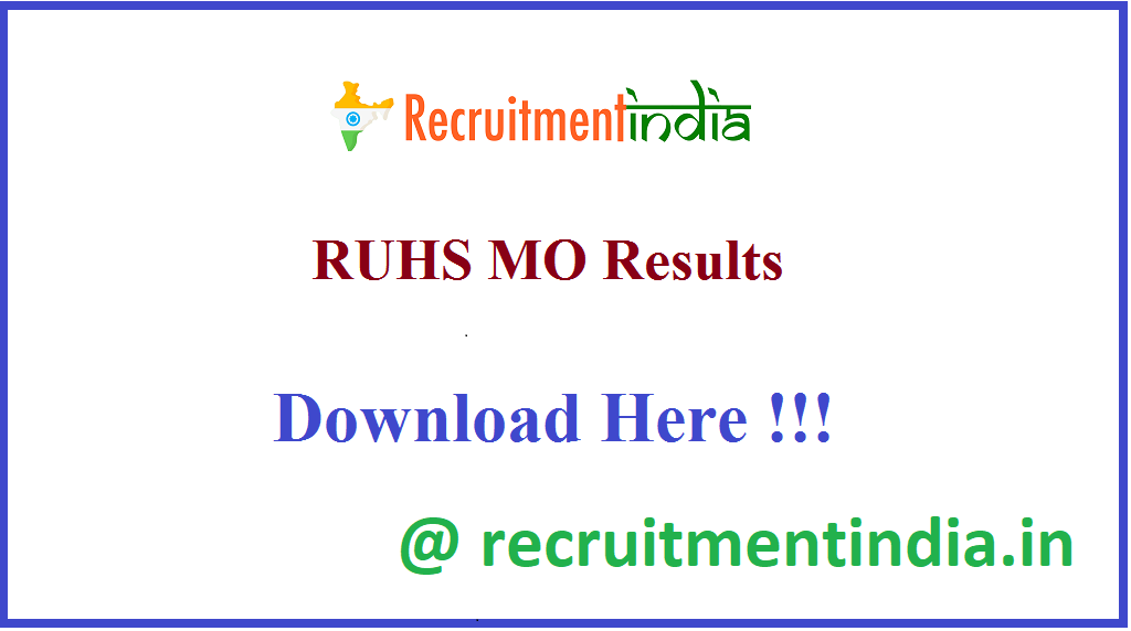 RUHS MO Results