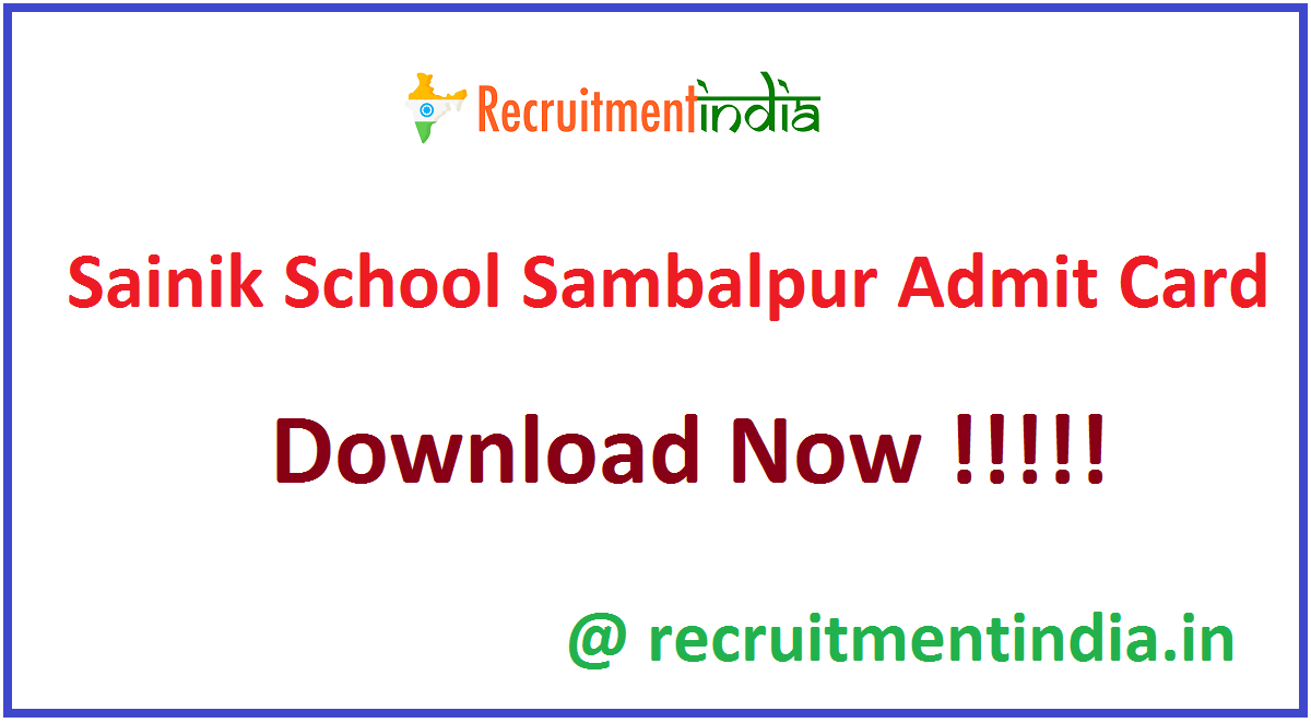 Sainik School Sambalpur Admit Card