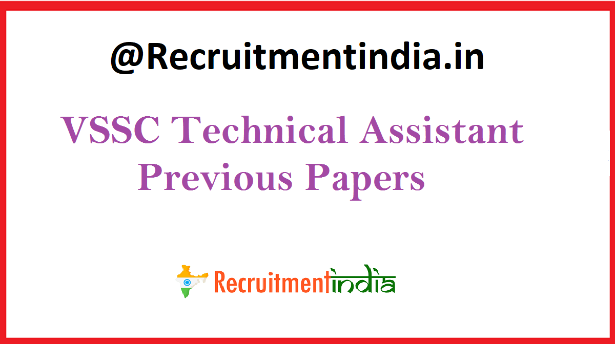 VSSC Technical Assistant Previous Papers