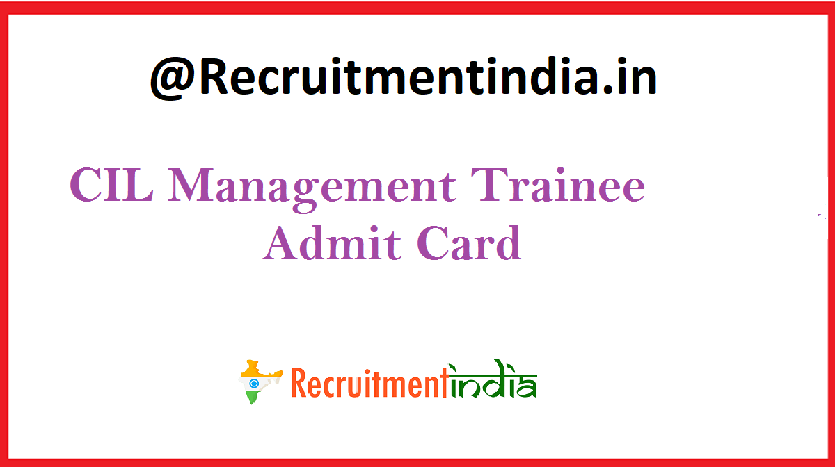 CIL Management Trainee Admit Card