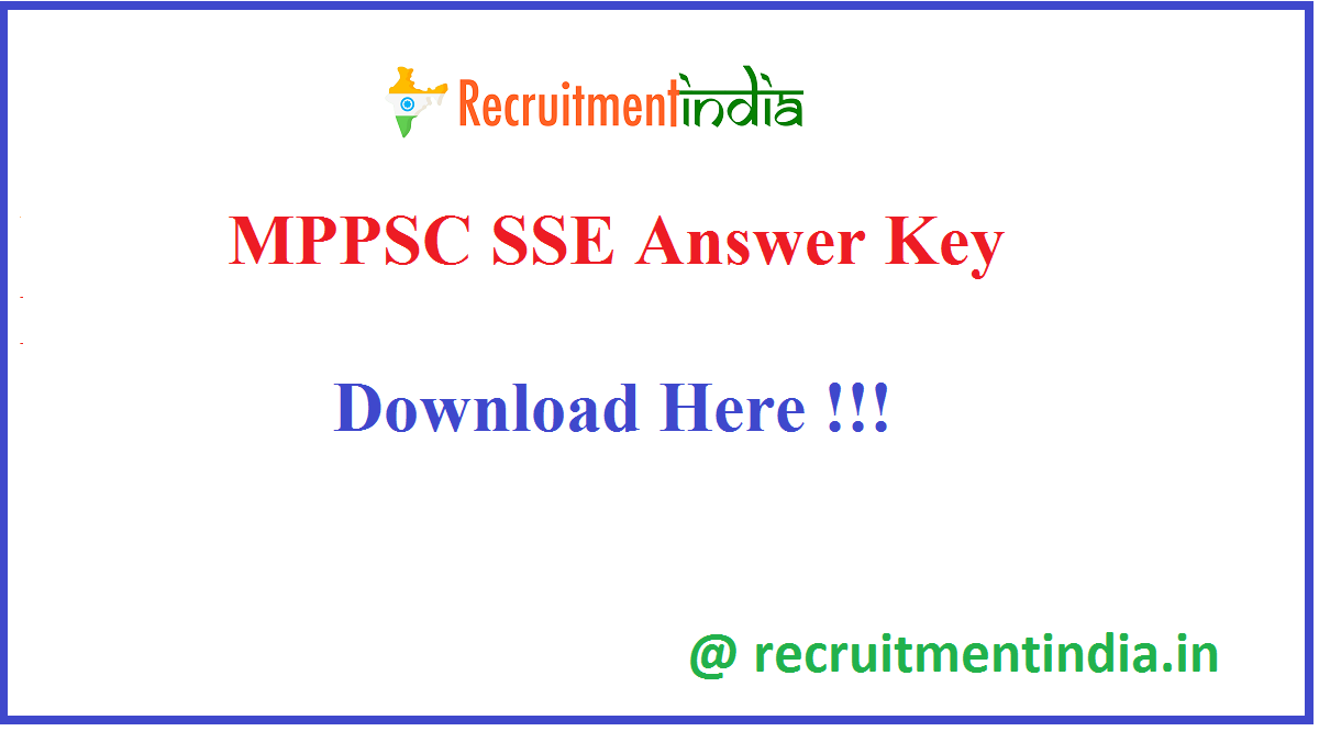MPPSC SSE Answer Key