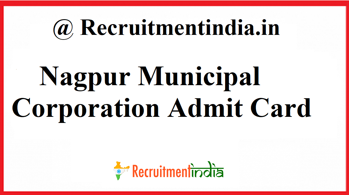 Nagpur Municipal Corporation Admit Card