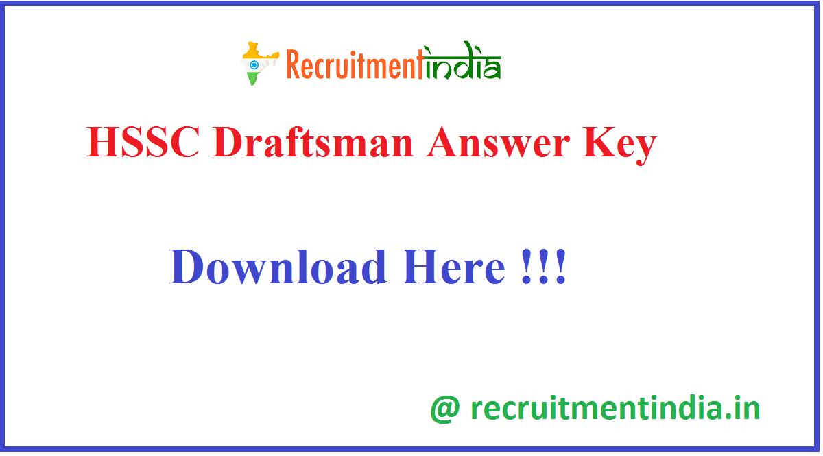HSSC Draftsman Answer Key