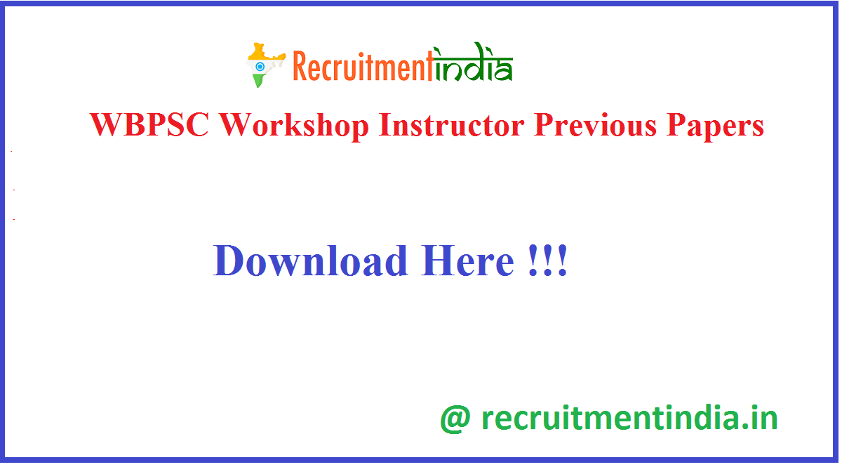 WBPSC Workshop Instructor Previous Papers