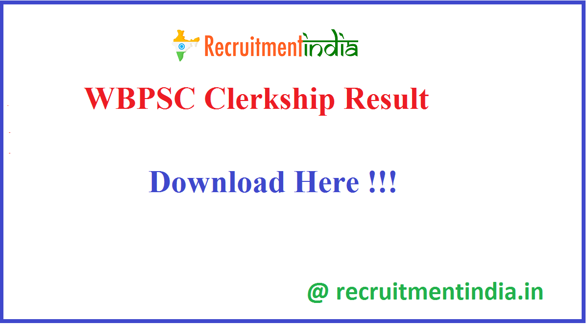 WBPSC Clerkship Result