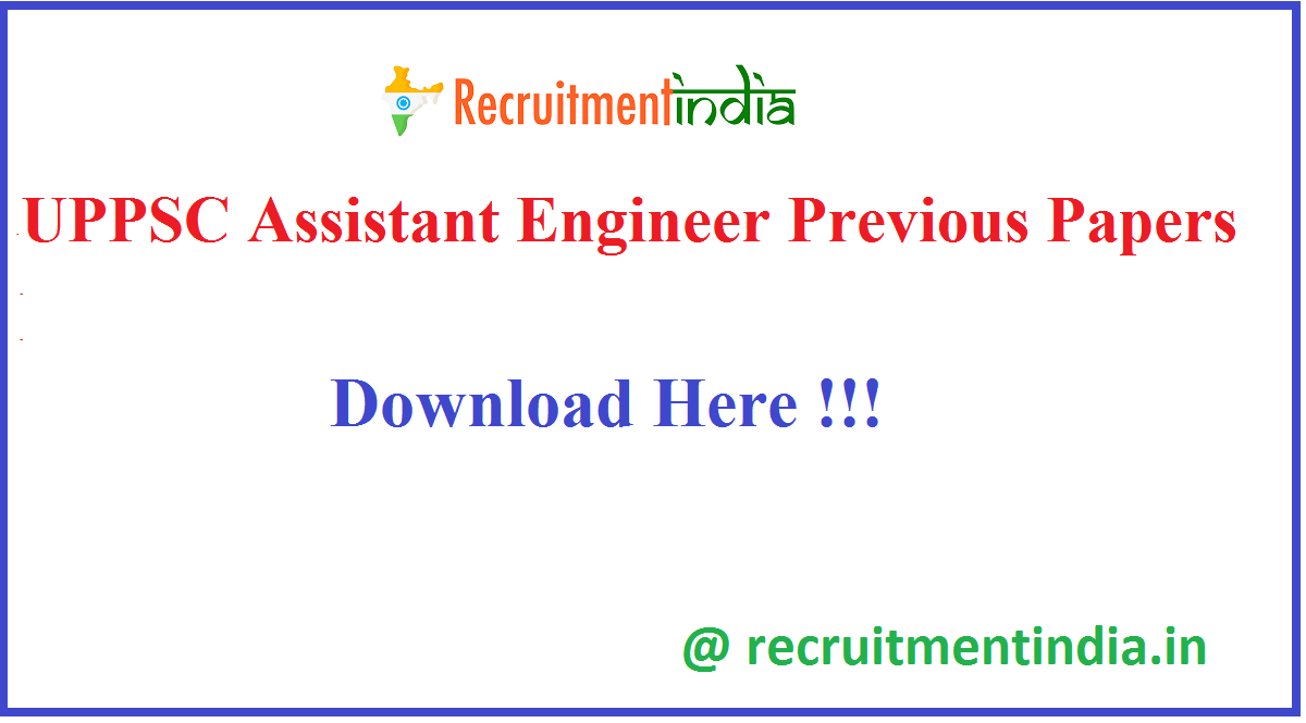 UPPSC Assistant Engineer Previous Papers