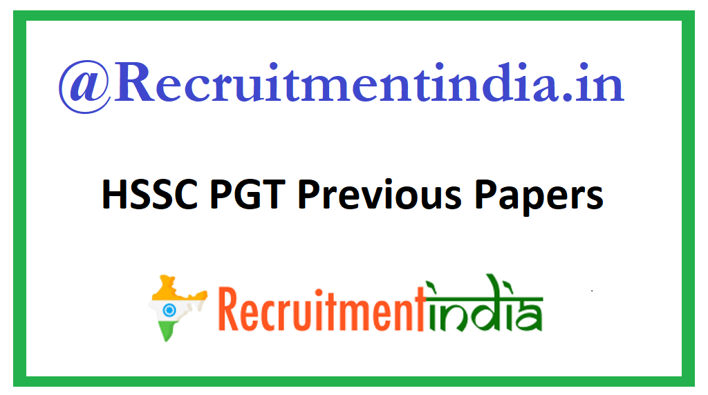 HSSC PGT Previous Papers