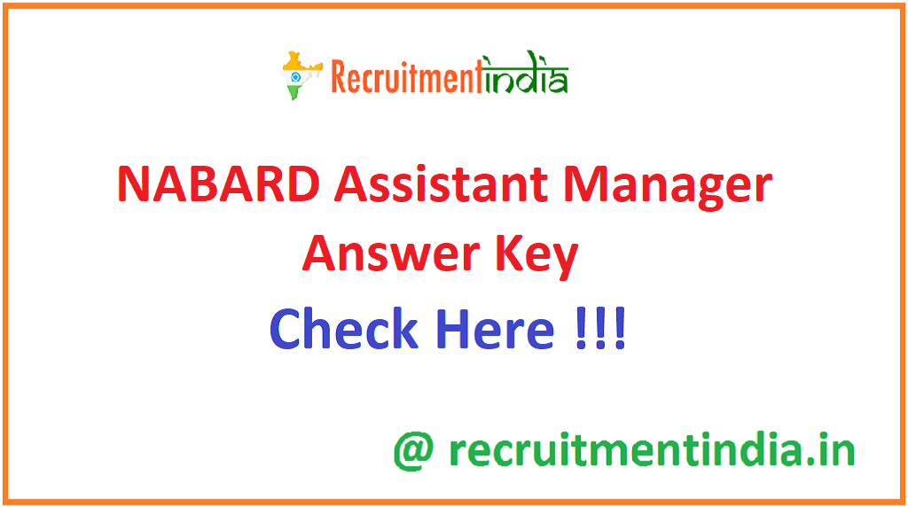 NABARD Assistant Manager Answer Key