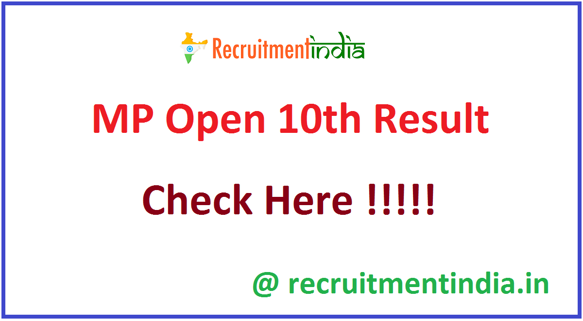 MP Open 10th Result