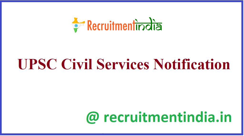 UPSC Civil Services Notification
