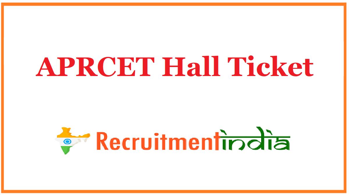 APRCET Hall Ticket
