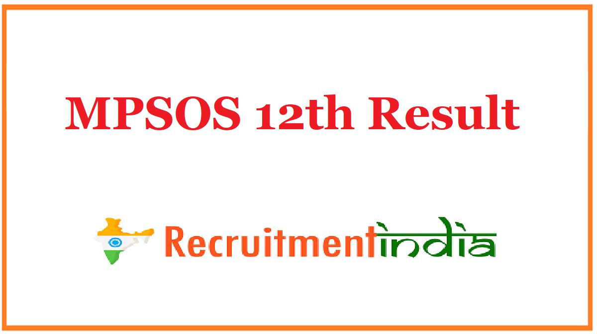 MPSOS 12th Result