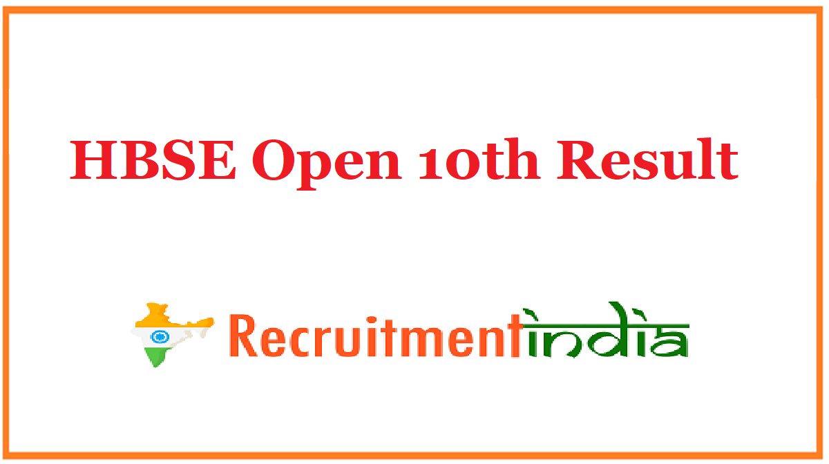 HBSE Open 10th Result