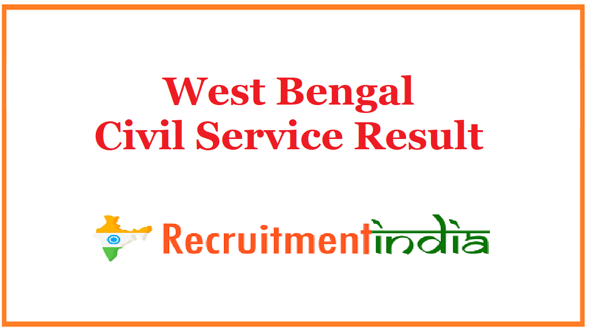 West Bengal Civil Service Result