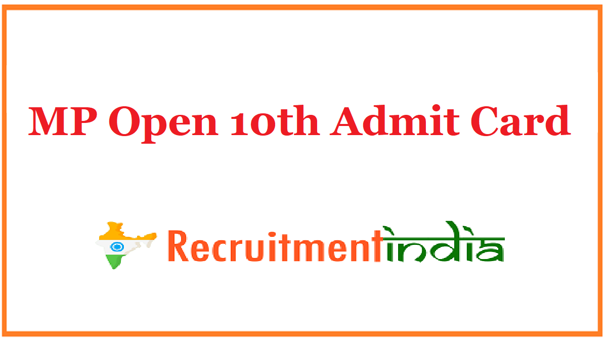 MP Open 10th Admit Card