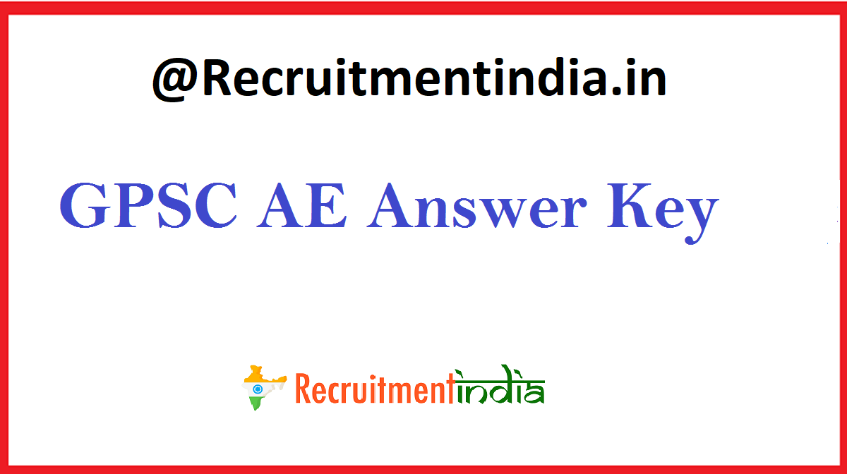 GPSC AE Answer Key
