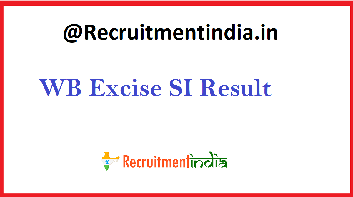 WB Excise SI Result