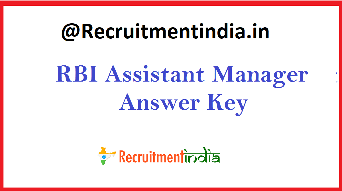 RBI Assistant Manager Answer Key