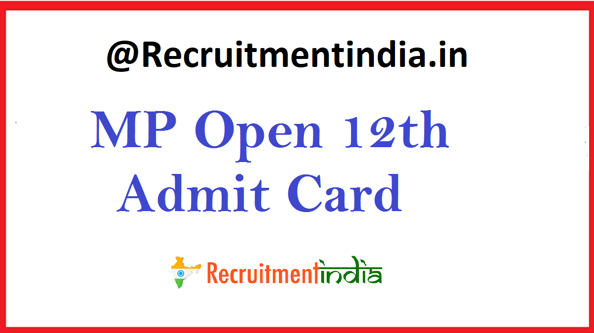 MP Open 12th Admit Card