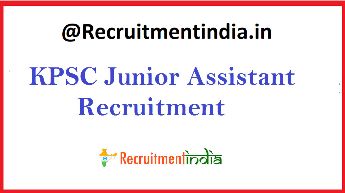 KPSC Junior Assistant Recruitment