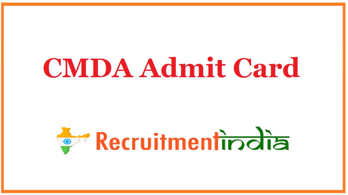 CMDA Admit Card