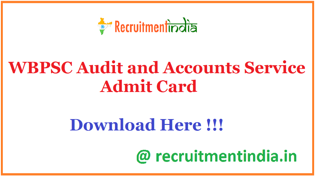 WBPSC Audit and Accounts Service Admit Card