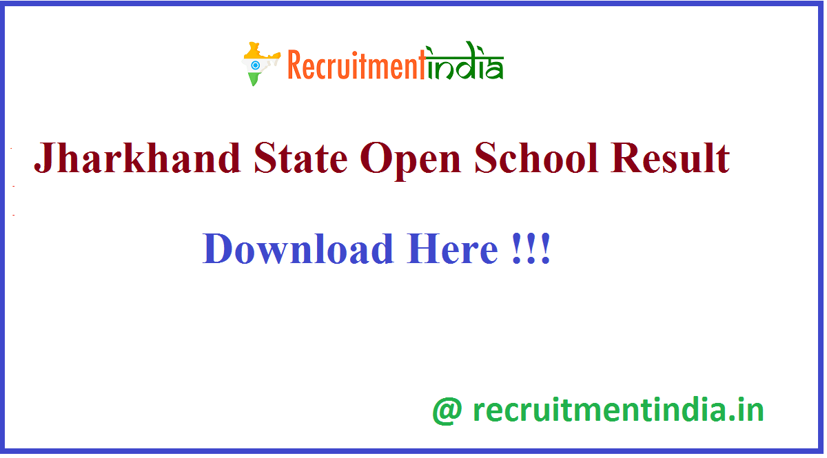 Jharkhand State Open School Result