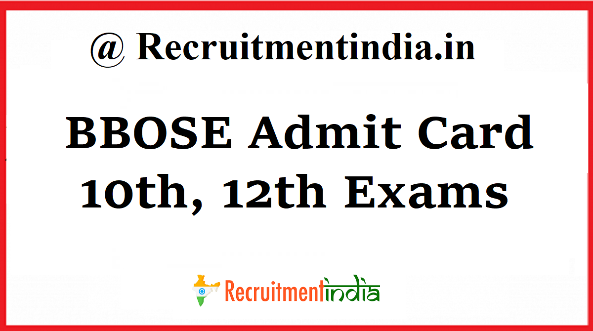 BBOSE Admit Card