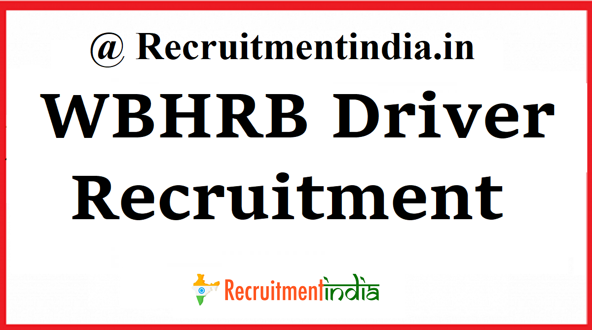 WBHRB Driver Recruitment
