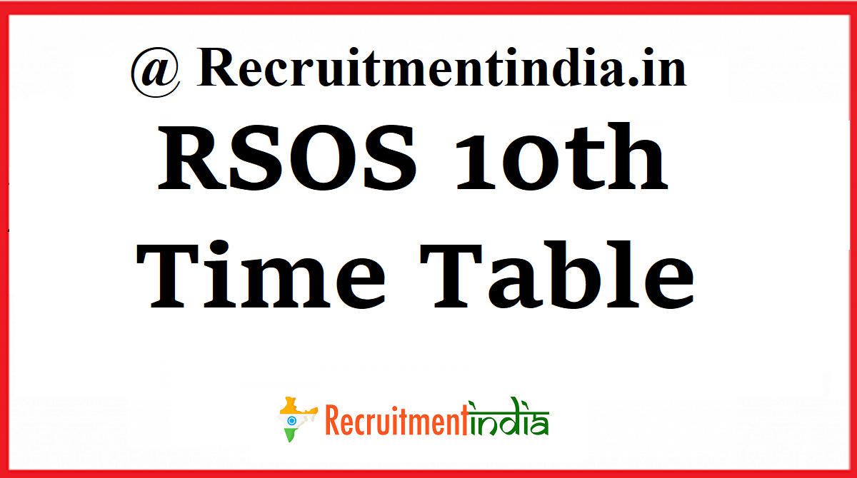 RSOS 10th Time Table