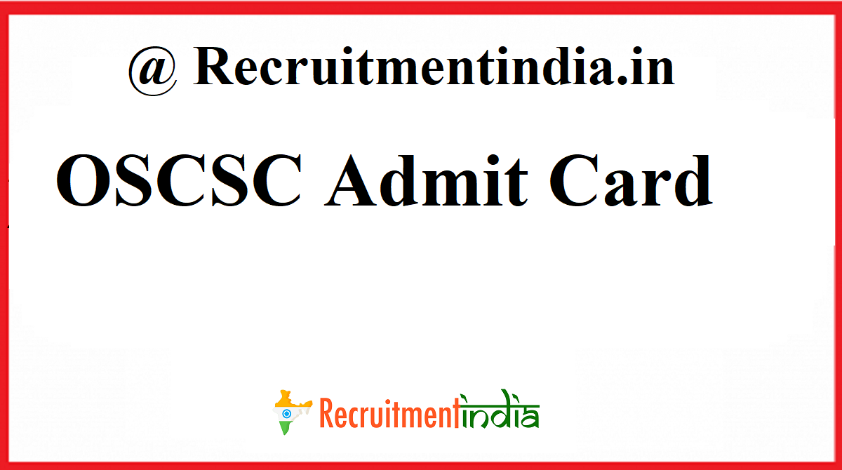 OSCSC Admit Card