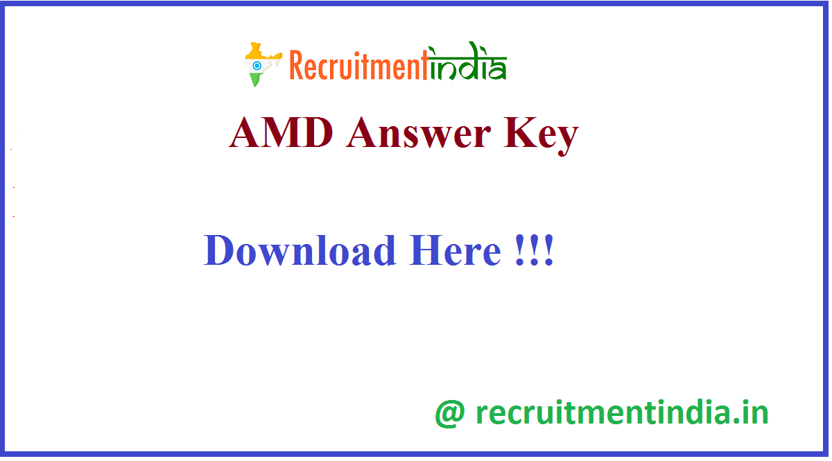 AMD Answer Key