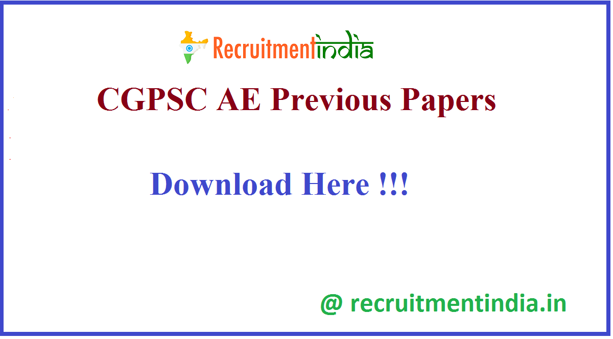 CGPSC AE Previous Papers