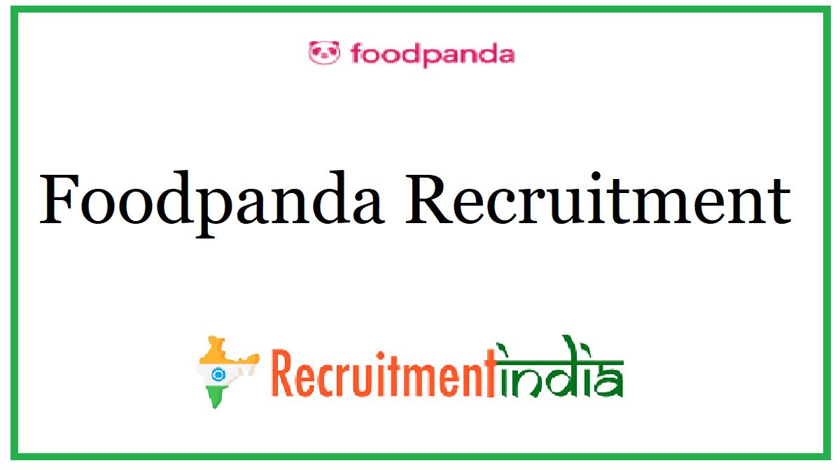 Foodpanda Recruitment
