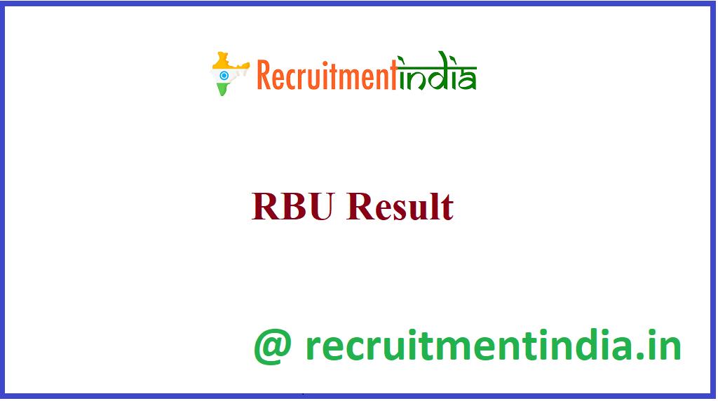 RBU Result