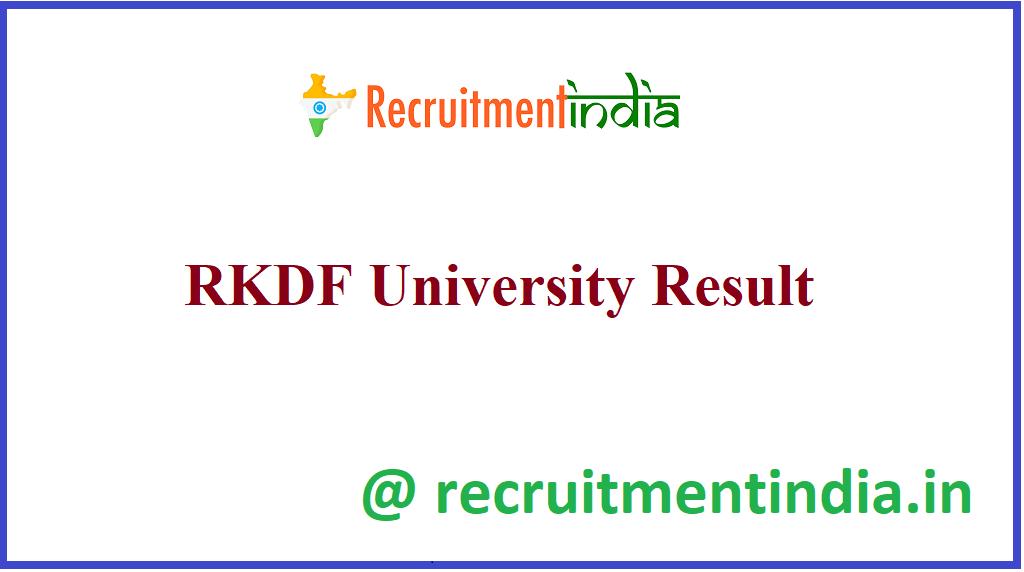 RKDF University Result