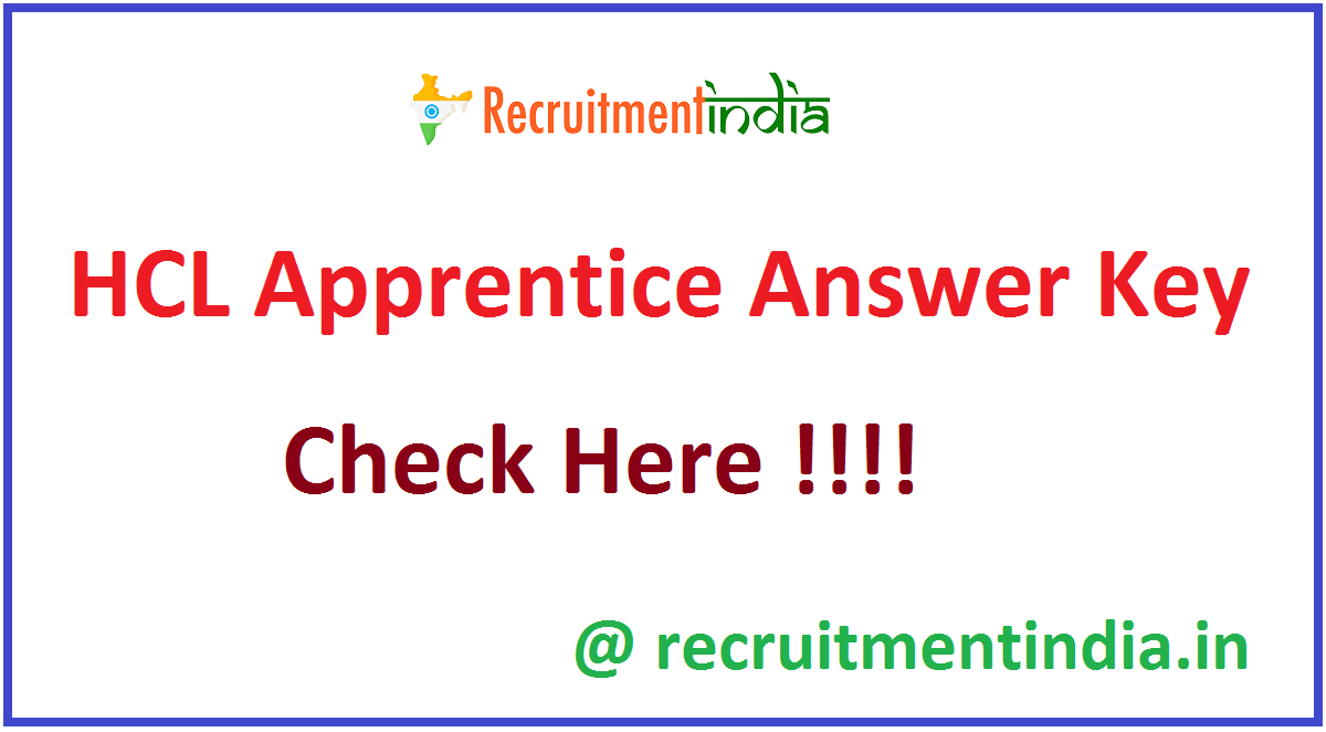 HCL Apprentice Answer Key