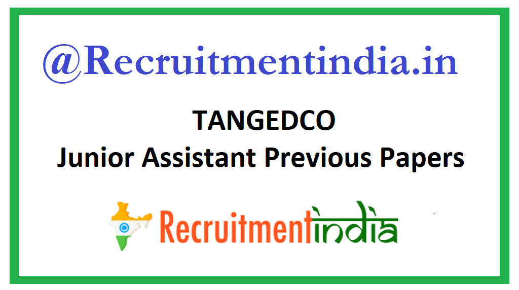 TANGEDCO Junior Assistant Previous Papers
