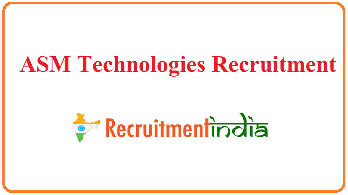 ASM Technologies Recruitment