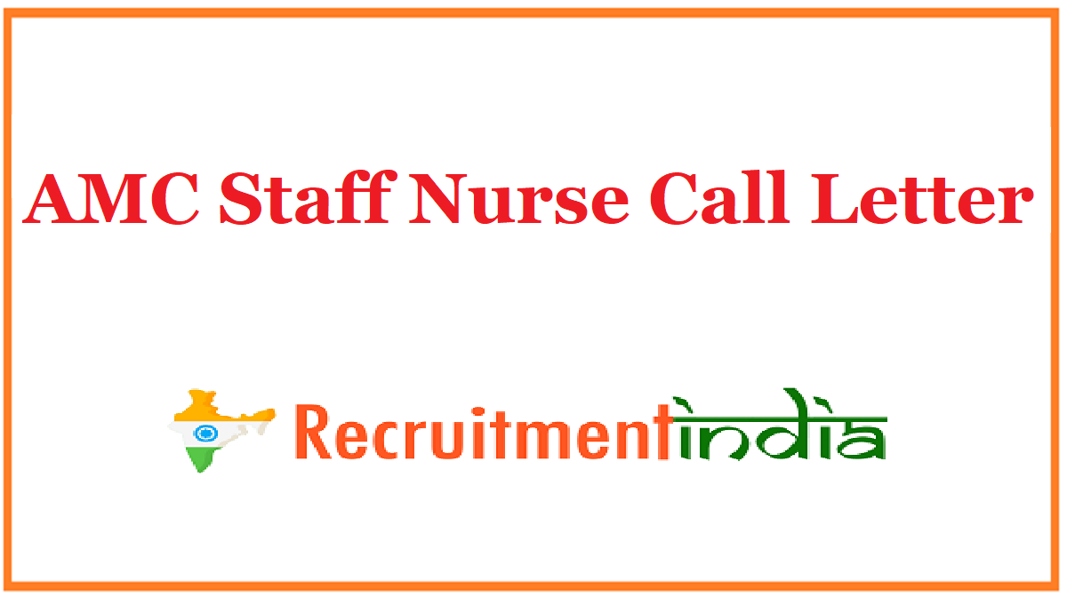 AMC Staff Nurse Call Letter