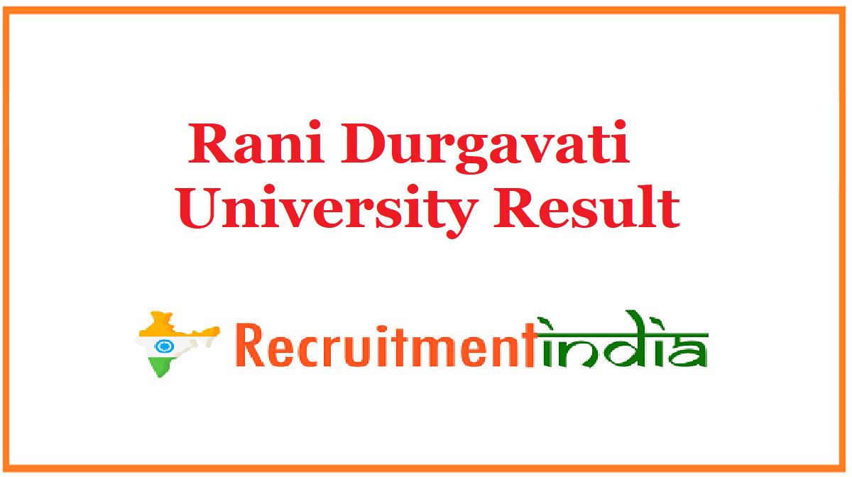 Rani Durgavati University Result
