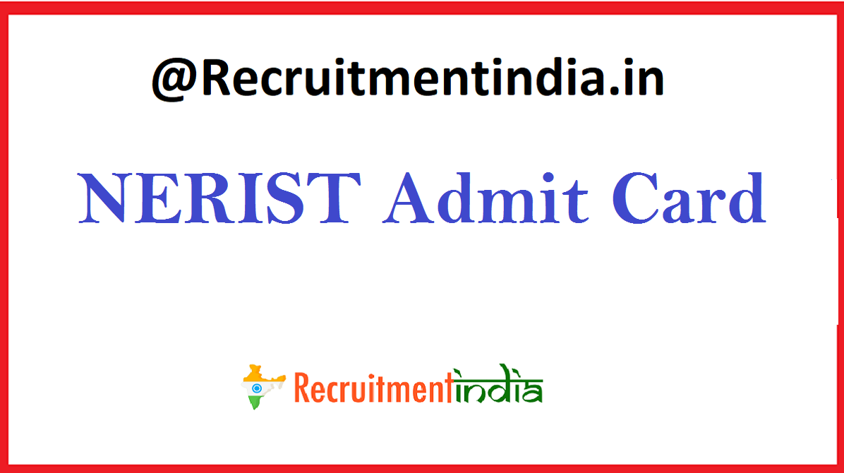 NERIST Admit Card