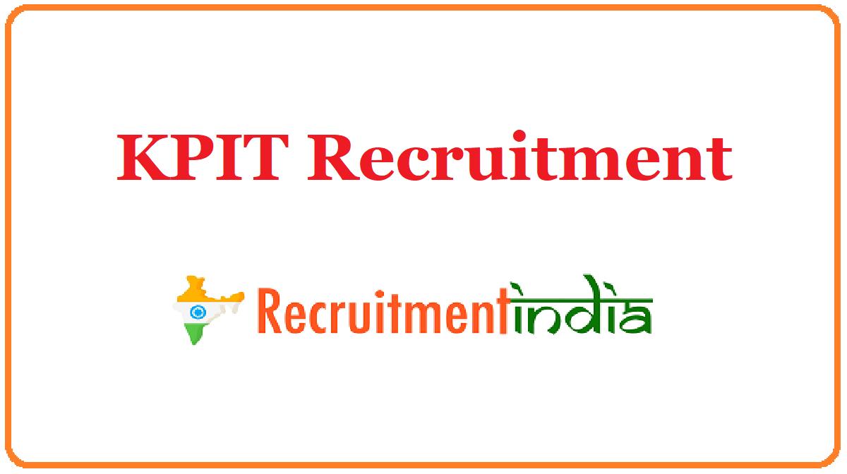 KPIT Recruitment