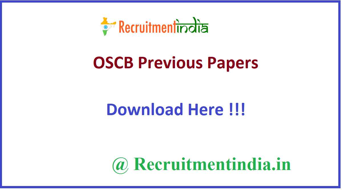 OSCB Previous Papers