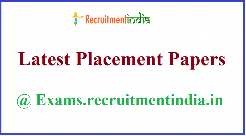 Placement Papers