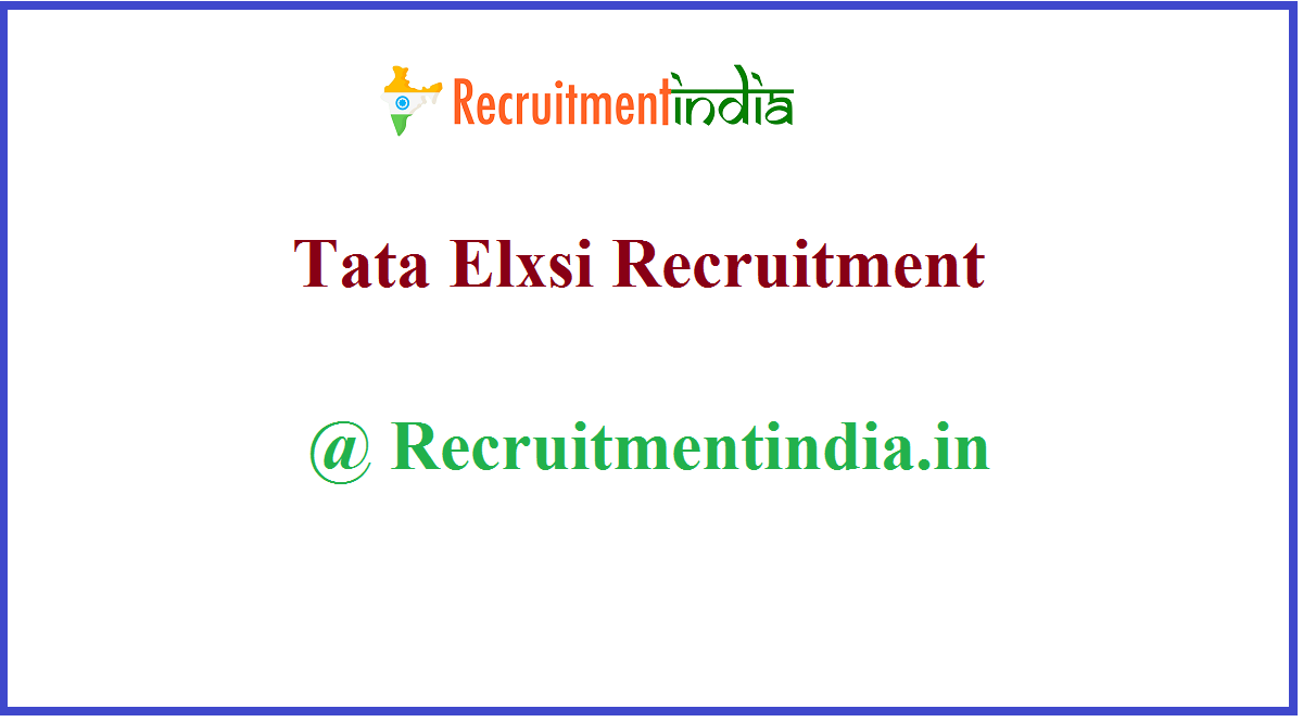 Tata Elxsi Recruitment